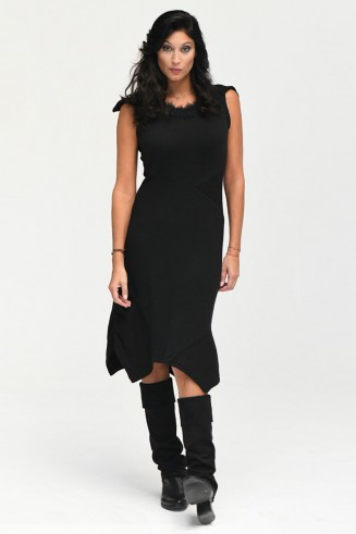 robe maille noire NEO RS