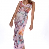 Robe longue rose EXOTIQUE RS