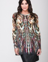 Pull fluide long stylé couleur amazonie RS