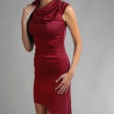 Robe maille rouge grenade RS