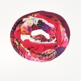 col snood rose rouge blanc Papillon