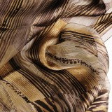 Foulard soie mat brillant marron