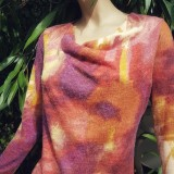 Pull col fluide GRANITA rose orange